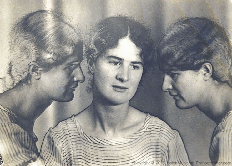 Triple self portrait, solarised c 1932 (Helen Muspratt)