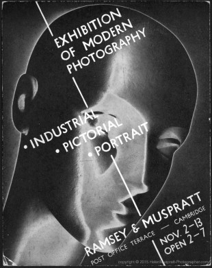 Invitation to exhibition in Cambridge 1937