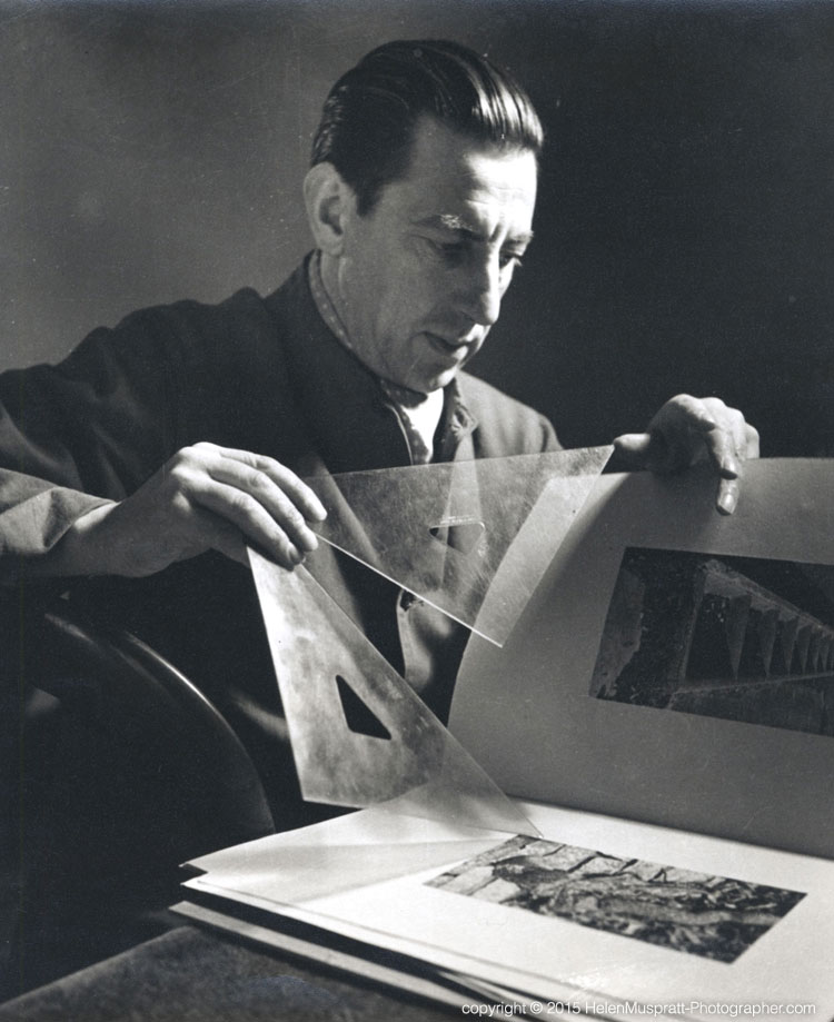 Paul Nash, painter 1935 (Helen Muspratt)
